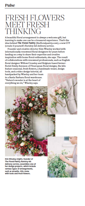 Fresh Flowers Meet Fresh Thinking, originally published in the December 2020 issue of 805 Living Magazine.