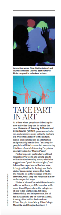 Take Part in Art, originally published in the December 2020 issue of 805 Living Magazine.