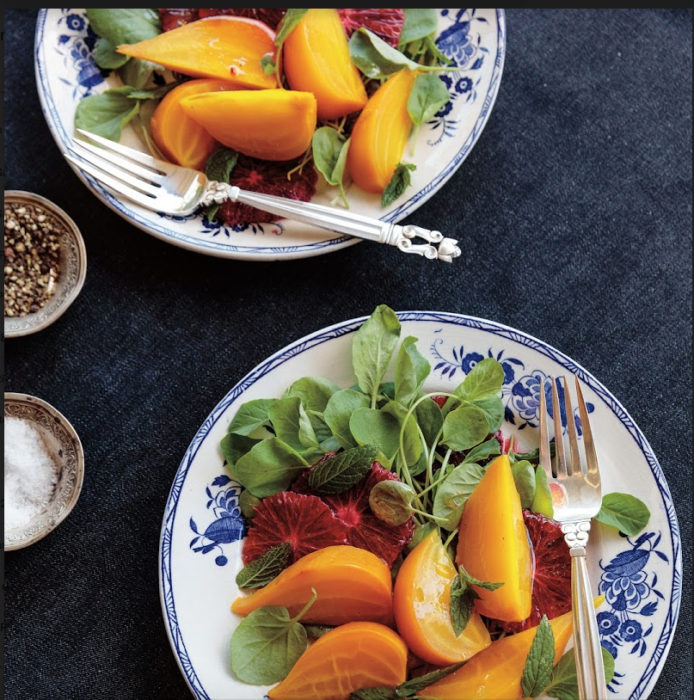 Golden Beets & Blood Oranges with Citrus Vinaigrette, from Lush Life by Valerie Rice. Photo by Gemma and Andrew Ingalls.