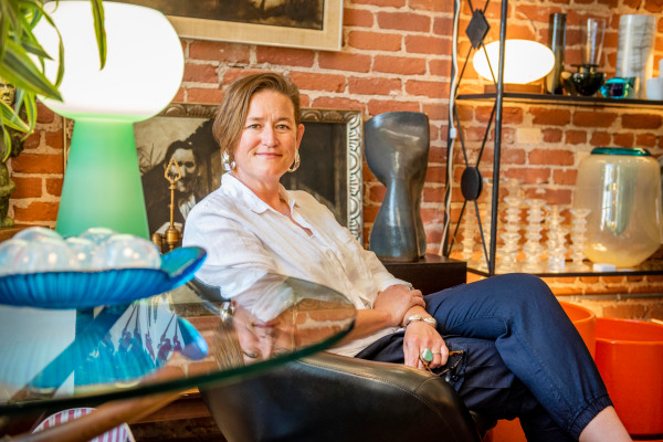 Owner of sbmidmod, Tracey Strobel. Photo by Erick Madrid for the Santa Barbara Independent.