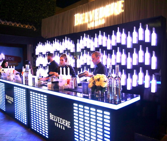 Belvedere Vodka bar at SBIFF 2018. Photo by Rebecca Sapp/Getty Images for SBIFF.